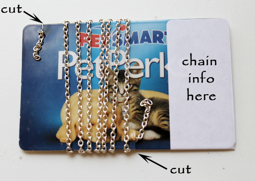 Chain card jewelry making blog information education videos variation instead of thin business card i use an old plastic card such as a gift card a credit card a membership card also i peel the label from the colourmoves