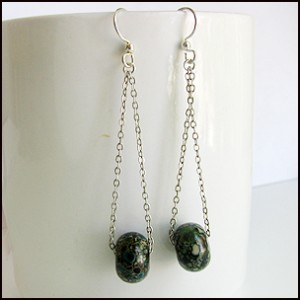 chain&Bead earrings-1