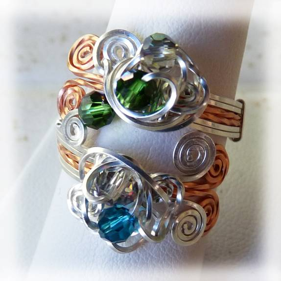Free Pattern Wire Wrapped Wrap Ring Jewelry Making