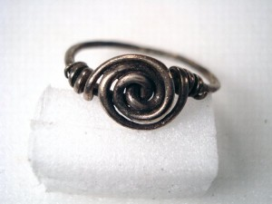 silver wire spiral finger-ring, 5th-6th century
