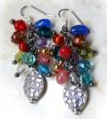 Cluster Earrings Jewel tones