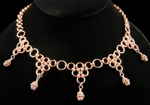 free pattern japanese takara chain maille necklace jewelry making